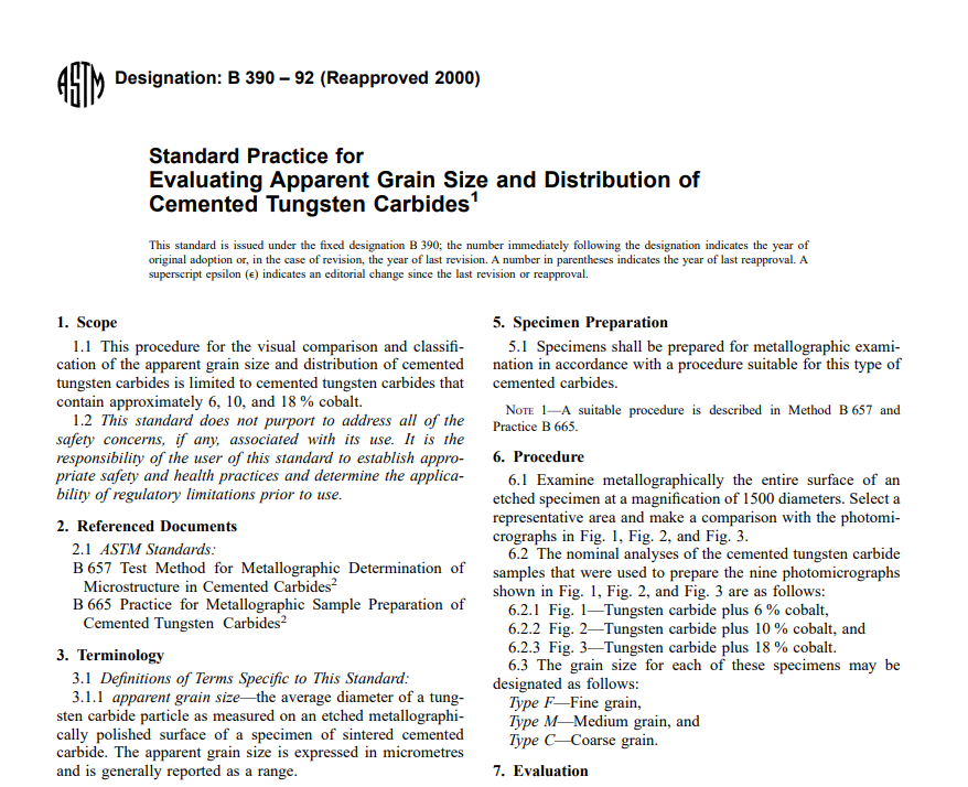 Astm B 390 – 92 (Reapproved 2000) pdf free download
