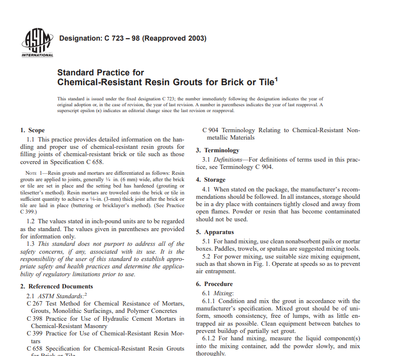 Astm C 723 – 98 (Reapproved 2003) pdf free download