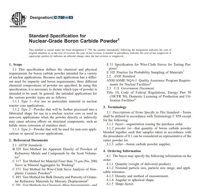 Astm C 750 – 03 pdf free download