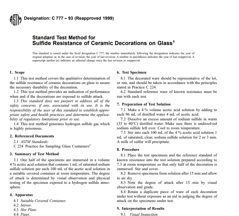 Astm C 777 – 93 (Reapproved 1999) pdf free download