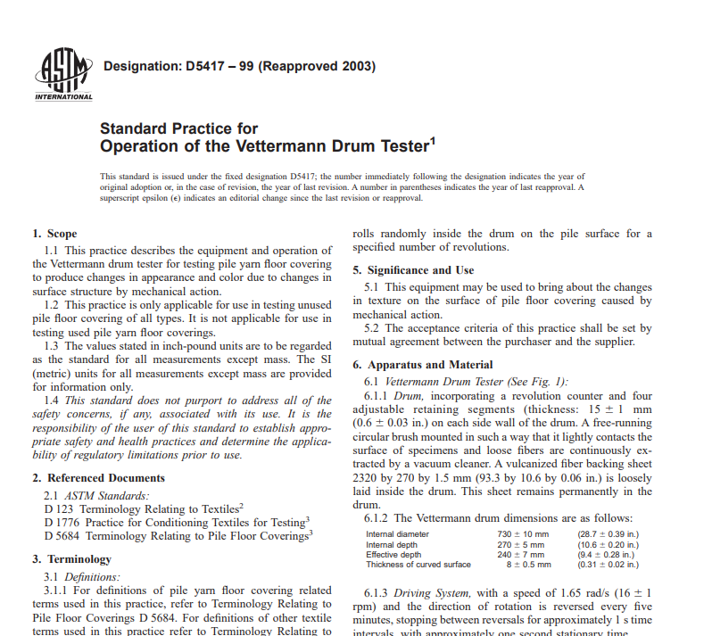 Astm D 5417 – 99 (Reapproved 2003) pdf free download - CIVIL