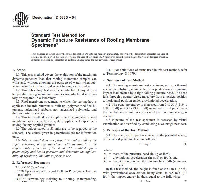 Astm D 5635 – 04 pdf free download