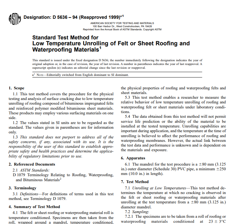 Astm D 5636 – 94 (Reapproved 1999) pdf free download