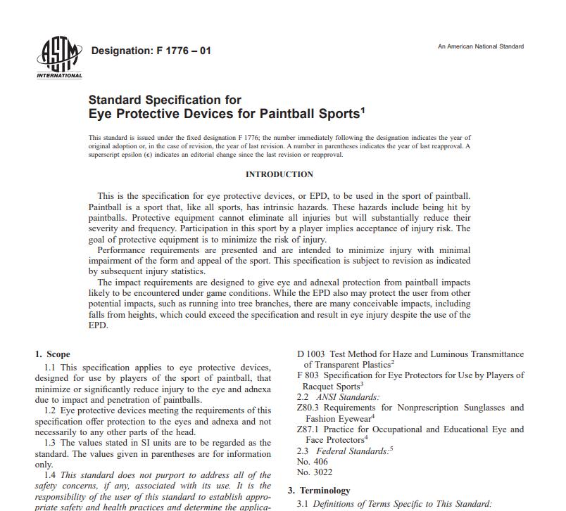 Astm F 1776 – 01 pdf free download - CIVIL STANDARDS