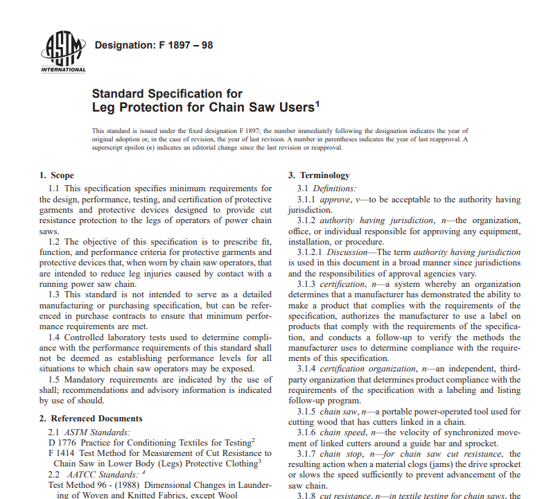 Astm F 1897 – 98 pdf free download