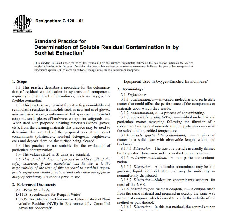 Astm G 120 – 01 pdf free download