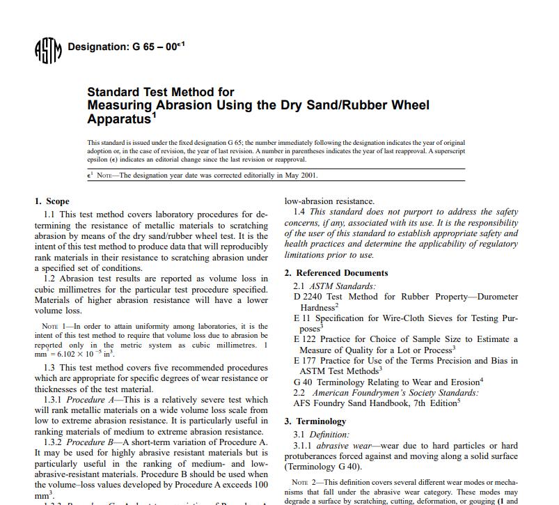 Astm G 65 – 00 pdf free download