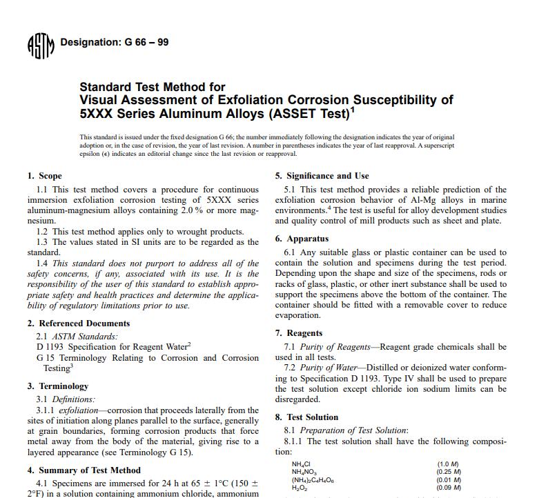 Astm G 66 – 99 pdf free download