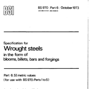 BS 970: Part 6: October 1973 pdf free download
