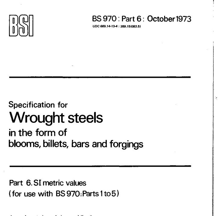 BS 970: Part 6: October 1973 pdf free download