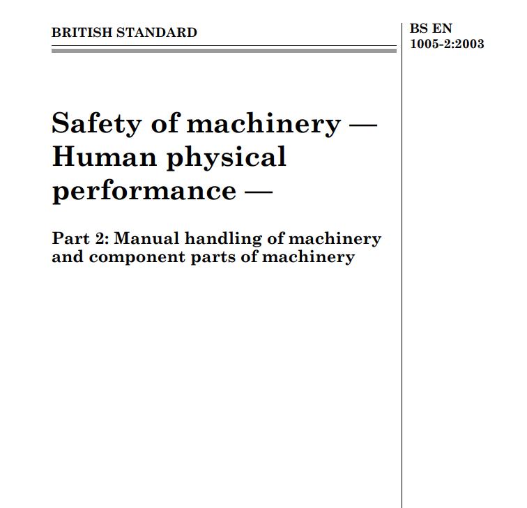 BS EN 1005-2:2003 pdf free download