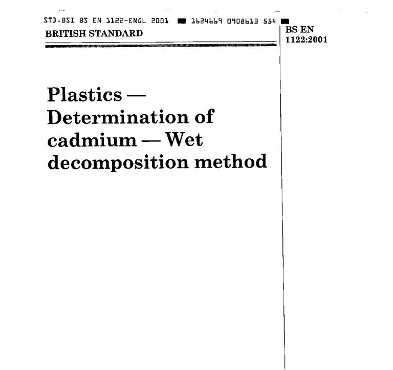 BS EN 1122:2011 pdf free download