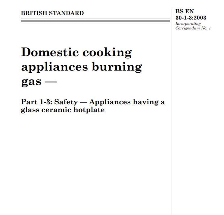BS EN 30-1-3:2003 pdf free download